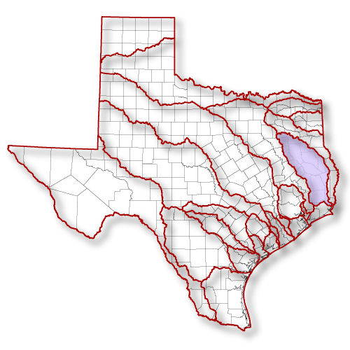Introduction To The Texas Clean Rivers Program Angelina Neches - Texas rivers and lakes map