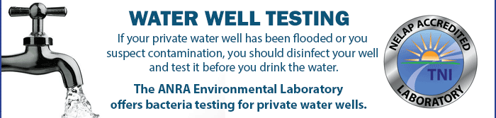 Testing your well after flooding or contamination